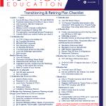 Transition and Retiring Plan Checklist - Partner ActNowEducation